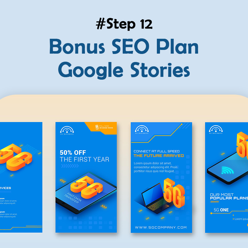 Bonus SEO Plan- Google Stories