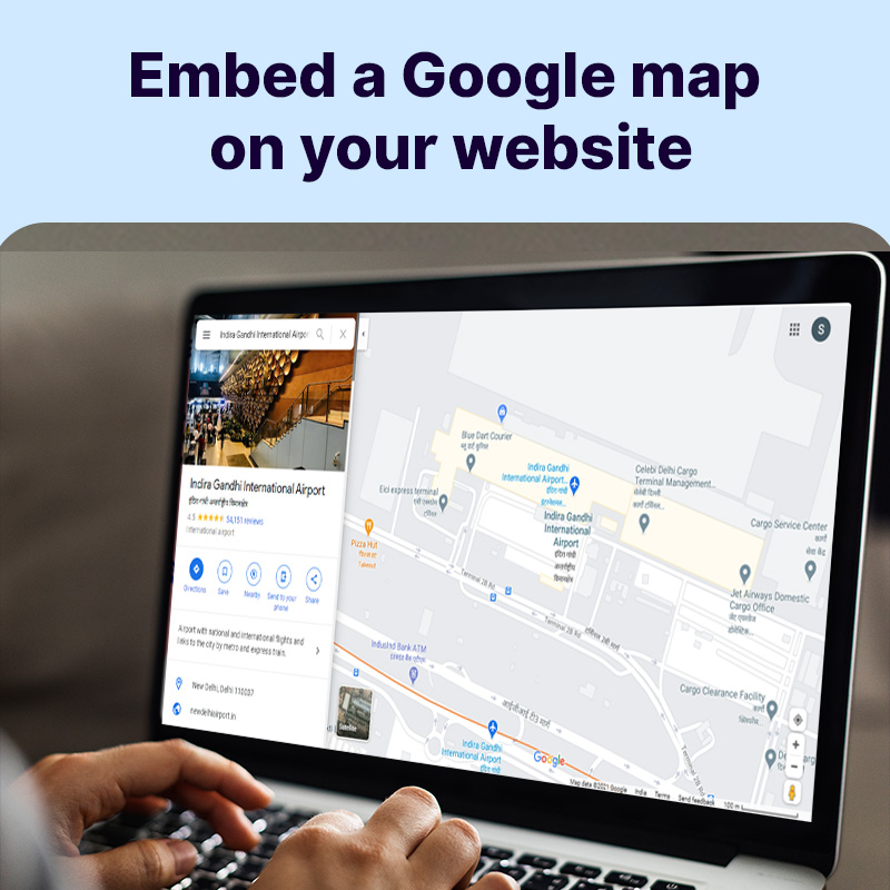 Embed a Google map on your website