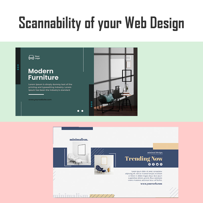 : Scannability of your Web Design