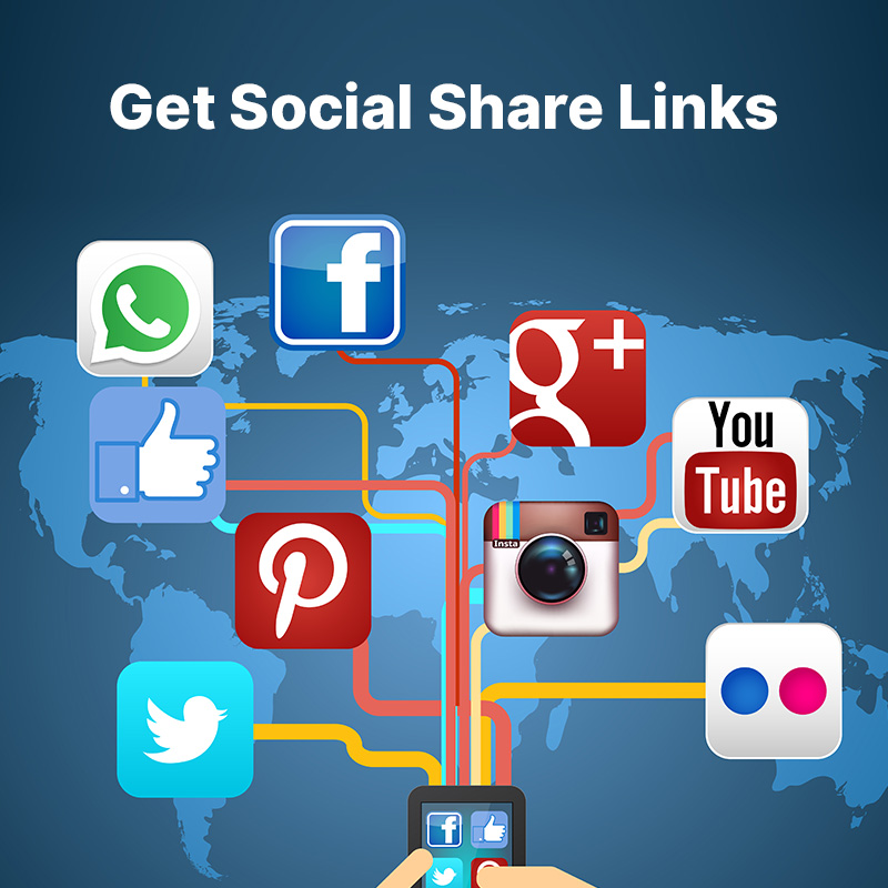 Get Social Share Links
